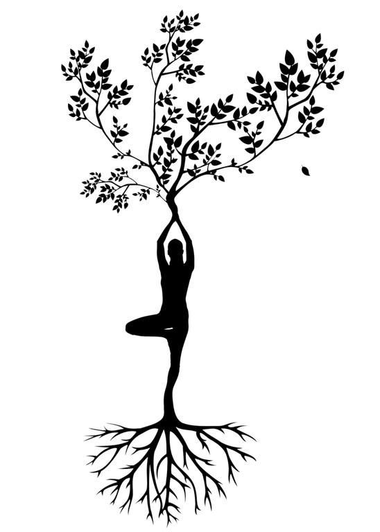 women silhouette as the tree of life